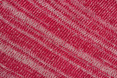 Red melange striped stockinet as background Royalty Free Stock Photography