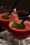 Red melon slushy drink Stock Images