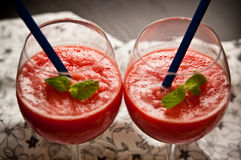 Red melon slushy drink Royalty Free Stock Photo