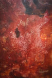 Red melted wax background texture Stock Image