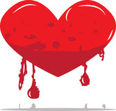 Red melting heart Royalty Free Stock Images