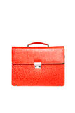Red men briefcase isolated over white Royalty Free Stock Photos