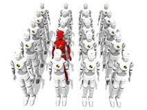 Red men in a group Royalty Free Stock Photography