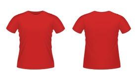 Red men's T-shirt vector illustration