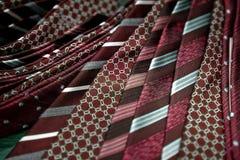 Red men's ties Stock Image