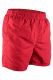Red men shorts for swimming Stock Photo