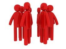 Red men walking around Royalty Free Stock Images