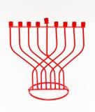 Red Menorah on a white background. Hanukkah Royalty Free Stock Photo