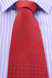 Red Mens Tie and Blue stripe shirt. Stock Images