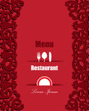Red Menu Restaurant Stock Photos