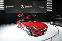 Red Mercedes-Benz SLS AMG car Stock Photography