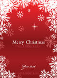 Red Merry Chrismas background Stock Photo