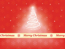 Red Merry Christmas background Stock Images
