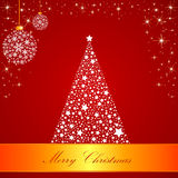 Red Merry Christmas Card Stock Photo