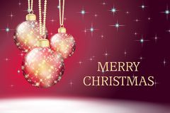 Red merry christmas card bckground Stock Photography