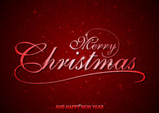 Red Merry Christmas Greeting Royalty Free Stock Photos