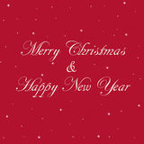 Red Merry Christmas and Happy New Year Banner Stock Photo
