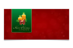 Red Merry Christmas and Happy New Year card Stock Photo