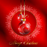 Red merry christmas postcard Royalty Free Stock Photography