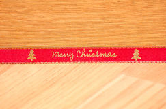 Red Merry Christmas ribbon Royalty Free Stock Photo