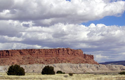 Red Mesa. A deep red colored mesa in northern New Mexico. Taken from a stop along the old Route 66 Stock Image