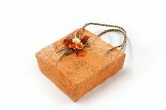 Red Mesh Bag Handmade de la fibra del abacá Fotos de archivo libres de regalías