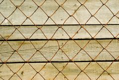 Red mesh-fence Royalty Free Stock Photo