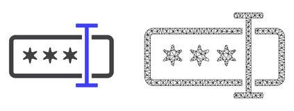 Red Mesh Password Field del vector e icono plano stock de ilustración