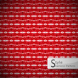Red mesh rope vintage geometric seamless pattern vector illustration Stock Image