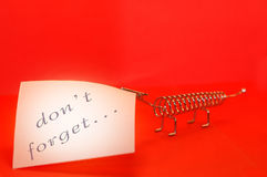 Red message. Don't forget Stock Images