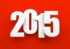 2015 on red. stock image