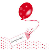 Red message ballon vector background Stock Photo