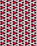 Red messy abstract seamless pattern with interweave lines. Vecto Stock Photography