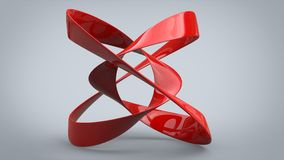 Red metal abstract art sculpture. Shiny red metal abstract art sculpture Royalty Free Stock Photo