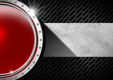 Red and Metal Abstract Background Royalty Free Stock Images