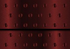 Red Metal Background. Red Perforated Aluminum Metal Plate Sheet vector illustration