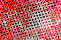 Red metal background pattern with texture and scratched surface Stock Images
