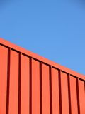 Red metal barrier Royalty Free Stock Photos