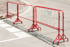Red metal barrier Royalty Free Stock Images