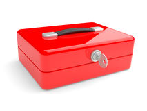 Red metal box Stock Photography