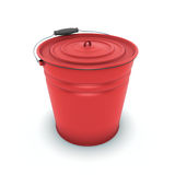 Red metal bucket Stock Image