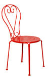 Red metal chair Stock Photography