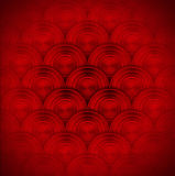 Red Metal Circles Background. Texture or background with red circles on red velvet background Royalty Free Stock Photography