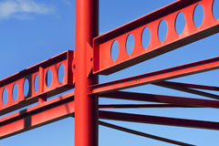 Red metal construction frame Royalty Free Stock Images