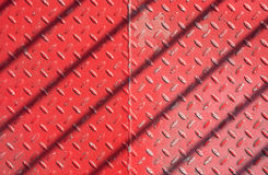 Red metal floor Stock Photography