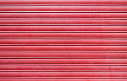 Red metal garage door Royalty Free Stock Photography