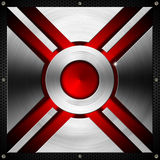 Red and Metal Geometric Background Stock Images