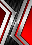 Red and Metal Geometric Background Stock Image