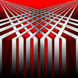 Red and Metal Geometric Background Royalty Free Stock Photo