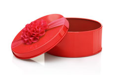 Red metal gift box Royalty Free Stock Photography